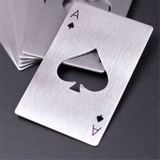 Stainless Steel Poker Ace Spades Bottle Beer Opener Card Cap Bar Soda Tool