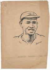 Cricket West Indies Everton Weekes 1949 sketch by cartoonist R Booch India Ӝ