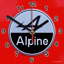 HORLOGE MURALE Logo ALPINE RENAULT SUR TOLE ROUGE-02M