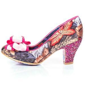 Ban Joe  Irregular Choice Women's Heels Court Shoes In Pink Floral