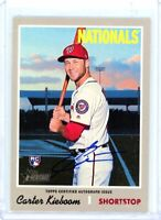 CARTER KIEBOOM 2019 Topps Heritage High Number Rookie Card RC Auto Autograph