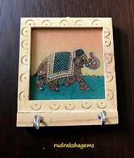 KEY RING STAND INDIAN HANDMADE VERY BEAUTIFUL ELEPHANT WOODEN WALL HANGING ART