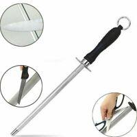 "11"" inch Knife Sharpening Steel Rod Sharpener Honing Stick chef tool UK SELLER"