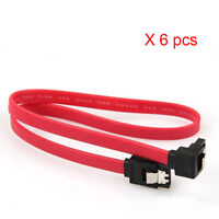 "6 x 18"" SATA 3.0 Cable SATA3 III 6Gb/s Right Angle 90 Degree for HDD Hard Drive"