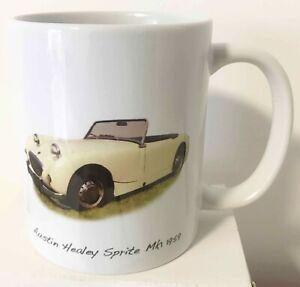 Austin Healey Sprite Mk1 1959 (Frogeye) - 11oz Ceramic Mug - Ideal Present