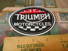 British Triumph Motorcycles Iron on Patch Free Shipping