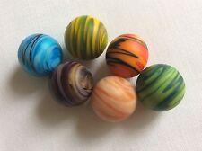 Un ensemble de 6 fait à la Main 16 mm Sand Storm Glass Marbles SO PRETTY NEUF et à Molly's