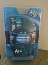 Salton Wet Tunes Hanging Shower Fm Am Radio Lcd Clock Blue 2001 Brand New Sealed
