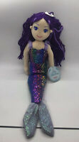 "17"" Sea Sparkles Mermaid Stuffed Soft Doll - Aurora Plush Purple"