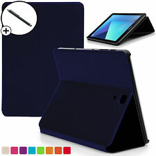 Navy Blue Smart Case Cover for Samsung Galaxy Tab S3 9.7 SM-T820 Stylus