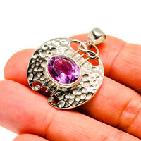 "Amethyst 925 Sterling Silver Pendant 1 1/4"" Ana Co Jewelry P743975F"