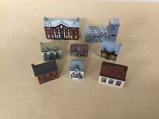 Lot Of 8 Whimsey On Why Wade England Miniature Porcelain Houses 5 Set 1, 3 Set 4