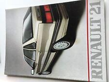 Catalogue brochure Katalog Prospekt RENAULT 21 24 PAGES Année 1986