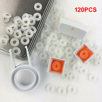 120PCS Silicone O-Ring Switch Dampeners White For Cherry MX Mechanical Keyboard