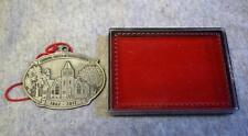 Howe House Pewter Ornament 2012 Edinburgh Indiana United Methodist Church Mint