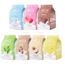APIEU Korean Facial Mask Sheet Milk Face Skin Care Moisturizing Pack 21g