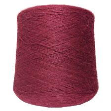 Alpaca Yarn on Cone - Burgundy - Lace Weight - 1KG
