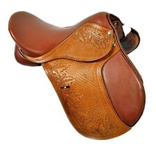 """17"""" Close Contact Jumping  Saddle- Hand Carved & Hand Tooled"""