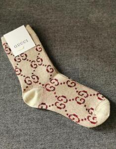 Gucci Cotton Blend Socks One size Brown-Red