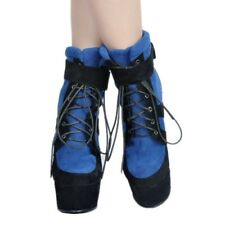 WOmens High Wedge Heels Platform Round Toe Suede Leather Lace Ups Ankle Boots