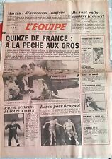 L'Equipe Journal 4-5/01/1986; XV de France/ Quinon/ Yvon Madiot/ Gaspoz/ Morvan