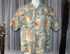 Tommy Bahama Tropical 100% Silk Bird of Paradise Print Shirt  (Medium)