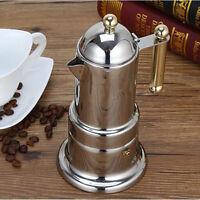French Press Edelstahl Kaffeebereiter Kaffeepresse mit 3-Schicht-Filter, 21x10cm