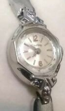 Vintage Ladies Dufonte Lucien Piccard Wind-Up Watch w/ Diamond Accents & GF Band