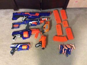 Nerf Gun Bundle Used All Working