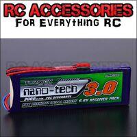 Turnigy nano-tech 3000mAh 2S 6.6v 20~40C LiFePo4 lipo battery Receiver Pack UK