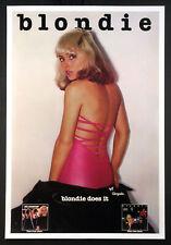 BLONDIE DEBBIE HARRY PLASTIC LETTERS VINTAGE 1978 PROMO POSTER