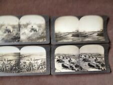 antique ww1 stereoview photo cards ,KEYSTONE x4 ,camp,