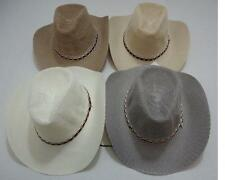 96 Mesh Summer Cowboy Hats Cowgirl Western Hat BULK WHOLESALE LOT