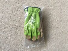 X2 Pairs Fabric Gardening Gloves (pink & Lime Green) Small