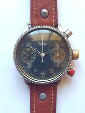RARE 1940s HANHART PILOT FLIEGER MILITARY CHRONOGRAPH WATCH FROM WORLD WAR 2