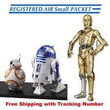 BANDAI STAR WARS C-3PO & R2-D2 & BB-8 1/12 Plastic Model Set Japan New F/S