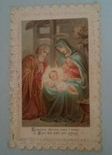 Image pieuse canivet Sainte famille Holy card
