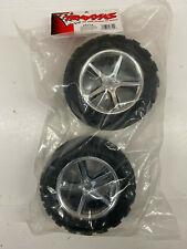 Traxxas T-Maxx / Revo Talon Tires w/ Gemini Chrome Wheels (2) 5374