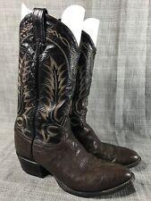 Tony Lama Black Label Bullhide Leather Brown Cowboy Boots Mens 8.5 D Style 6703