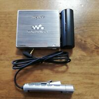 SONY MZ-E900 MDLP MiniDisc Walkman Player Silver TESTED Working Good F/S