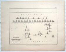 Netherland 1866 Map SEA BATTLE OF CAMPERDOWN 1797 22x28cm