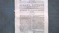 1798 71 PARIS Amérique gesandschaft partie 2 ABBE Sabathier de Castries