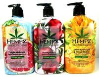 Hempz 3 pack Summer gift set Pomegranate + Triple + Sweet Pineapple 17oz lotion