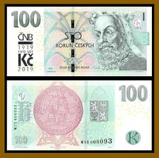 Czech Republic 100 Korun, 2018 (2019) P-New Prefix M15 Comm. 100 Year Unc
