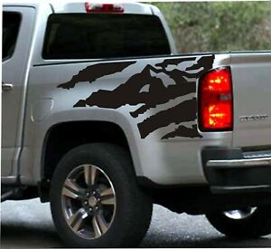 2X Rear Bedside Vinyl Decals For Chevy Colorado 2019-2020  Truck Bed Graphics