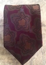 BALLY Necktie Dark Purple 100% Silk Made In ITALY Excellent Condition MOD VTG