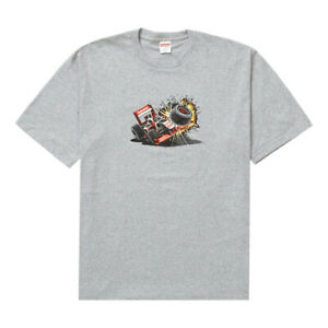 Supreme Crash Tee, Grey, Sealed, FW21 Size Large (L) T-Shirt | In Stock