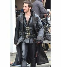 No Closure Leather Collared Coats & Jackets for Men