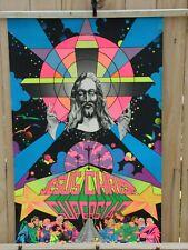 ORIGINAL 1971 JESUS CHRIST SUPERSTAR BLACKLIGHT POSTER THIRD EYE  21x23