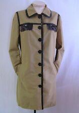 ETCETERA ECCOCI TAN BEIGE BROWN RAINCOAT JACKET TRENCH COAT size 12 NEW